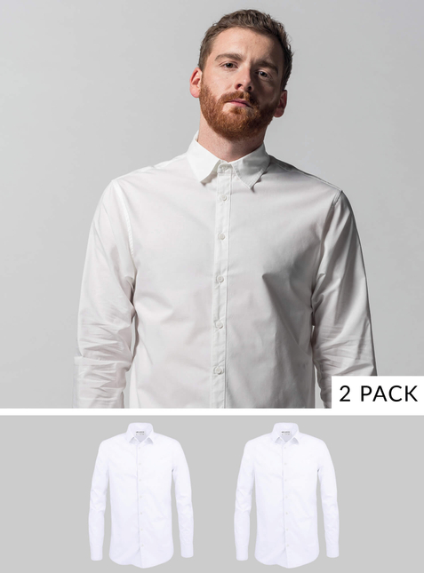 2-Pack Men's Shirt white/white