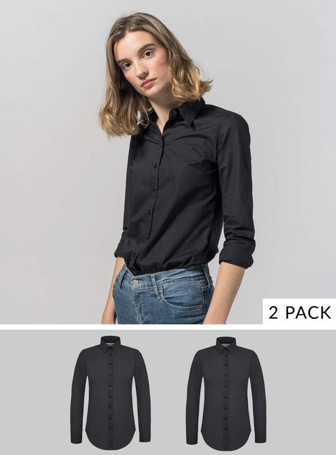 2er Pack Damen Bluse