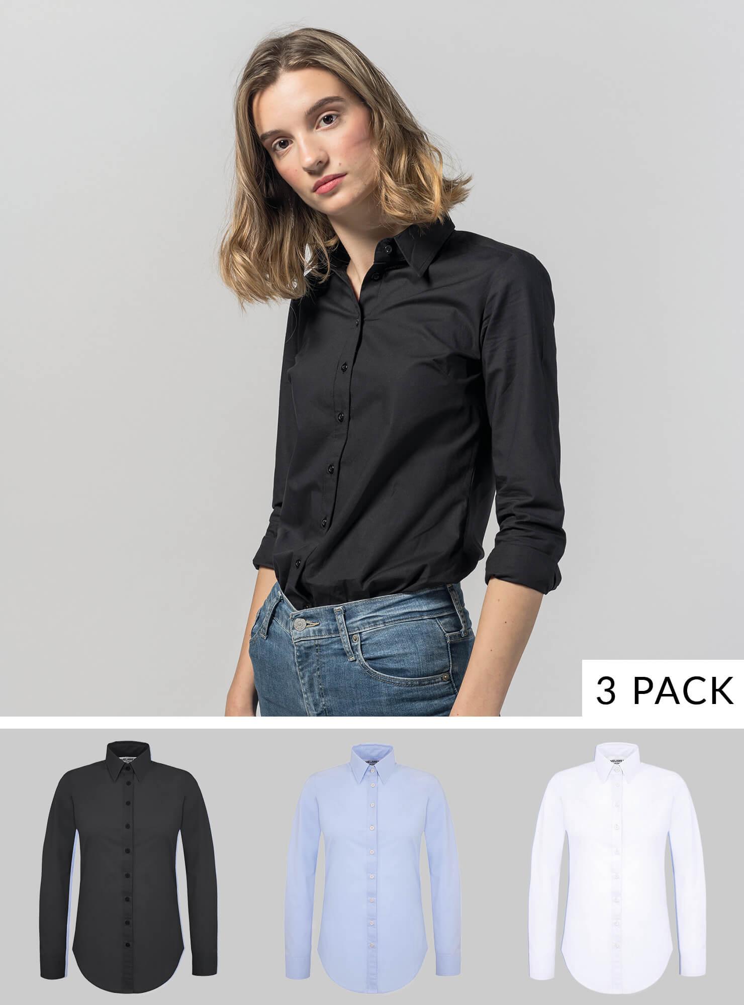 3er Pack Damen Bluse
