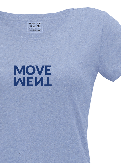 "Women's T-Shirt ""Movement"" blue-blend"