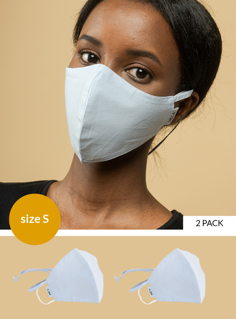 2-pack Mouth-nose mask - Size S - Toxin-free according to GOTS