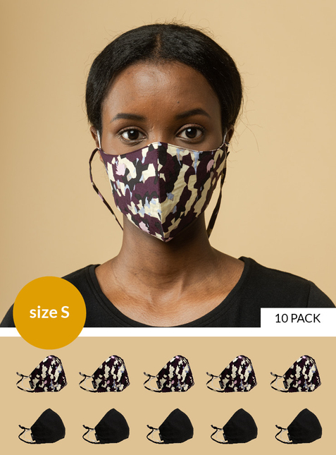 10-pack Mouth-nose mask - Size S - Toxin-free according to GOTS