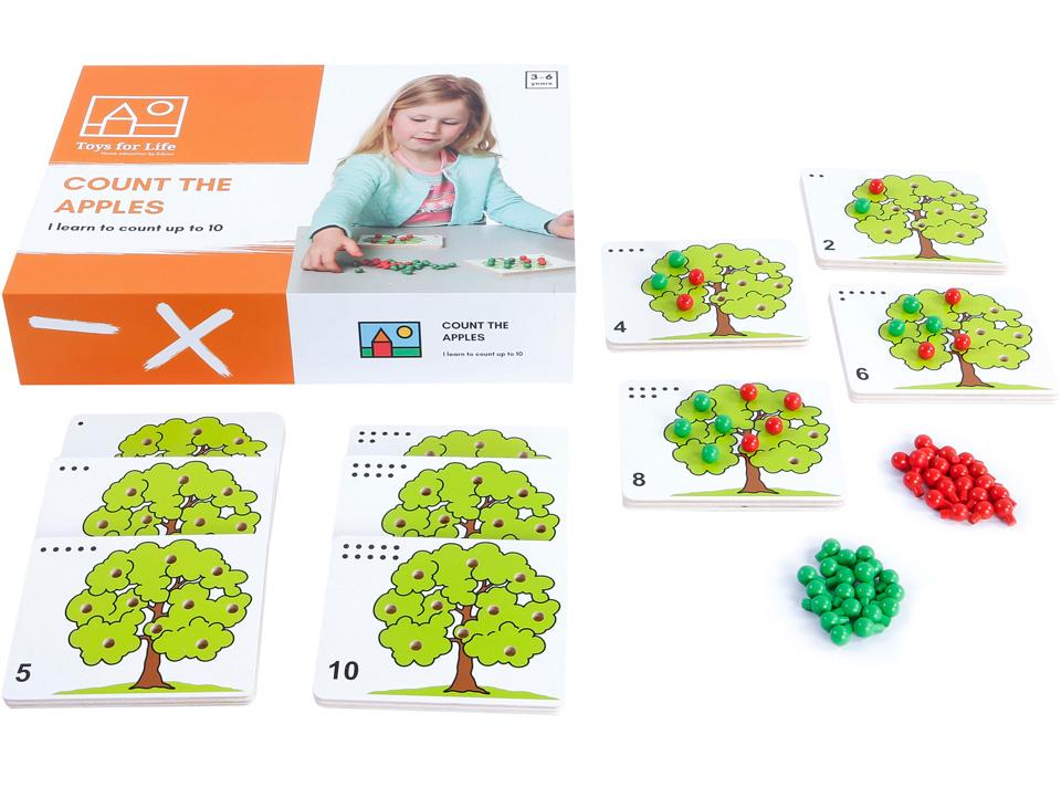 Zähle die Äpfel Zahlenspiel Toys for Life