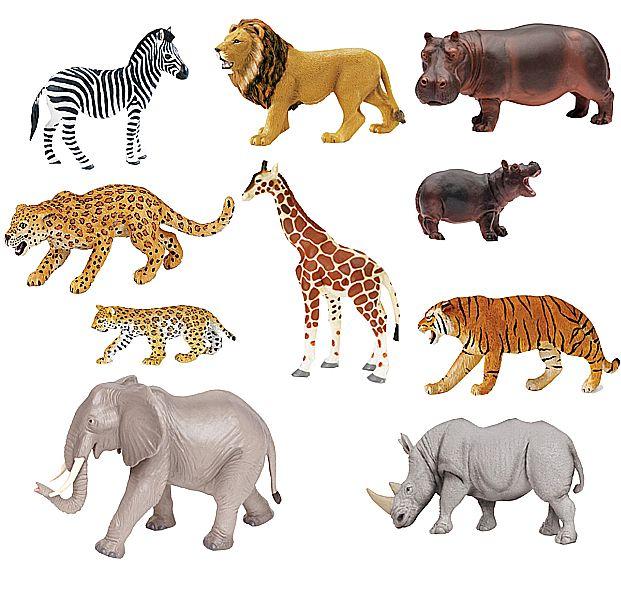 Dschungeltiere 10tlg. Wildtiere
