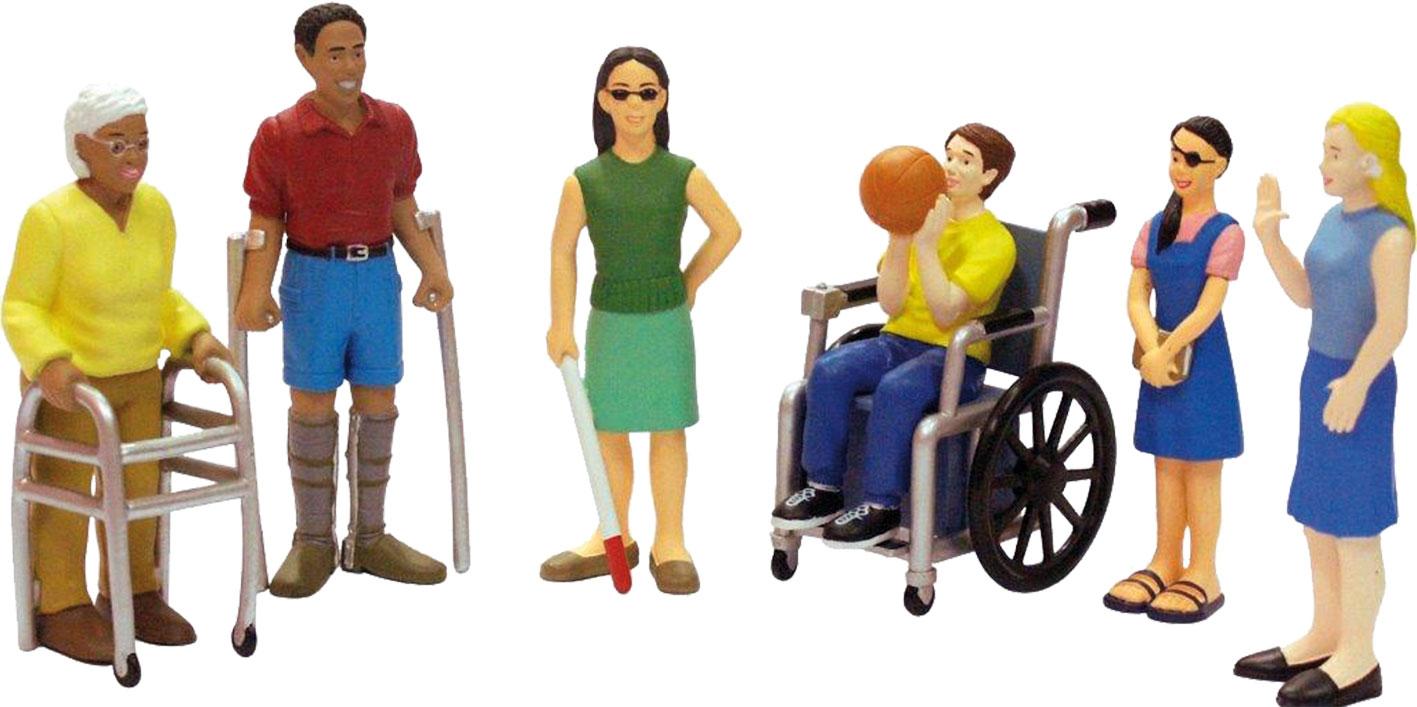 Figurenset Menschen mit Handicap 6tlg.