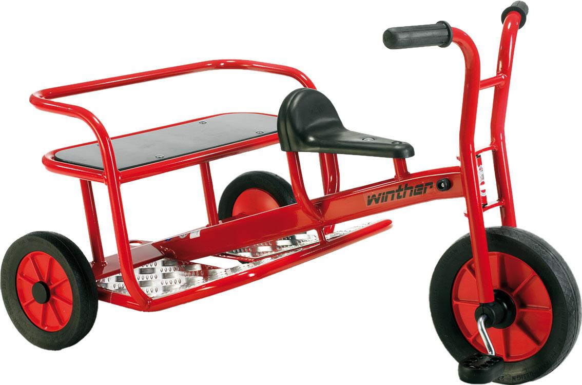 Winther Doppel-Taxi - Dreirad für Kinder 4 bis 8 Jahre