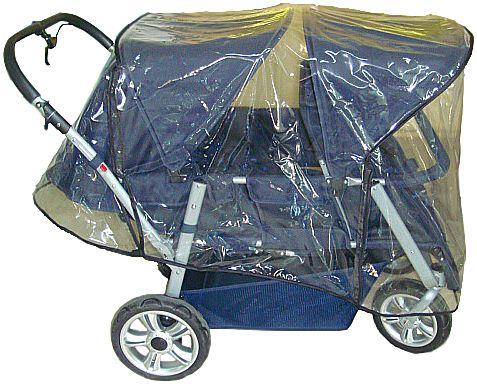 Regenschutz für Krippenwagen 4 Sitzer