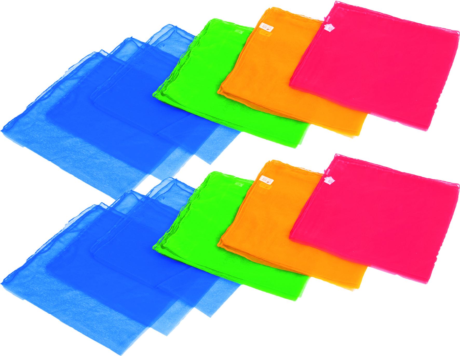 Jongliertücher 12er 4 farbig sortiert