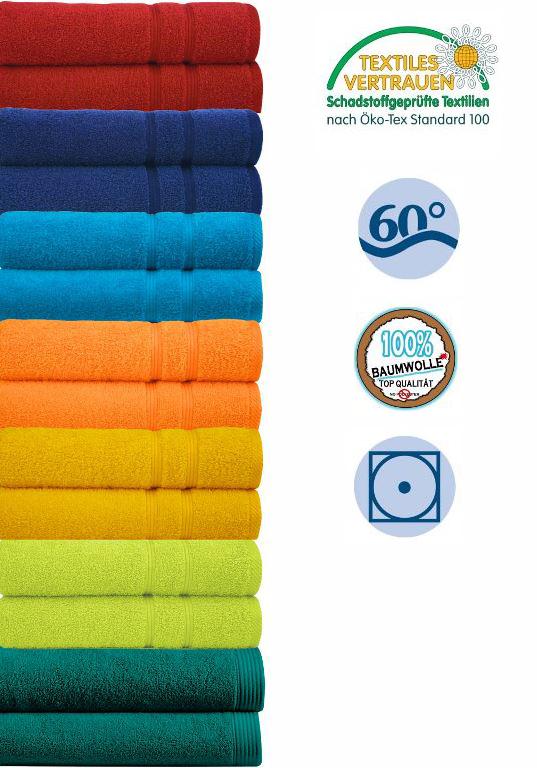 Handtuch Uni Premium 580g/m² 30 x 50cm 100 % Baumwolle