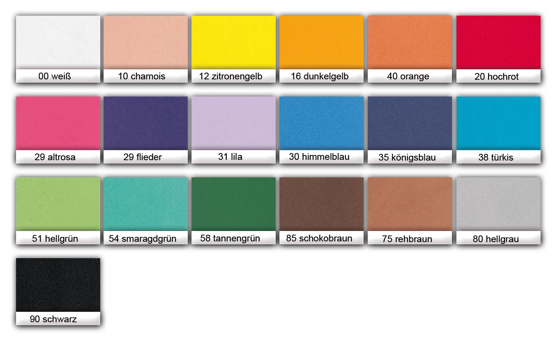 Moosgummi 20 x 29 cm, 10 Bg. einer Farbe