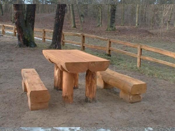 Tisch- und Bank Robinie