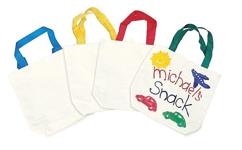Stofftasche zum Bemalen 12 Stück