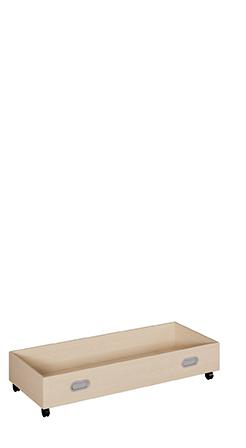 flacher Rollkasten aus melaminbeschichteter Spanplatte