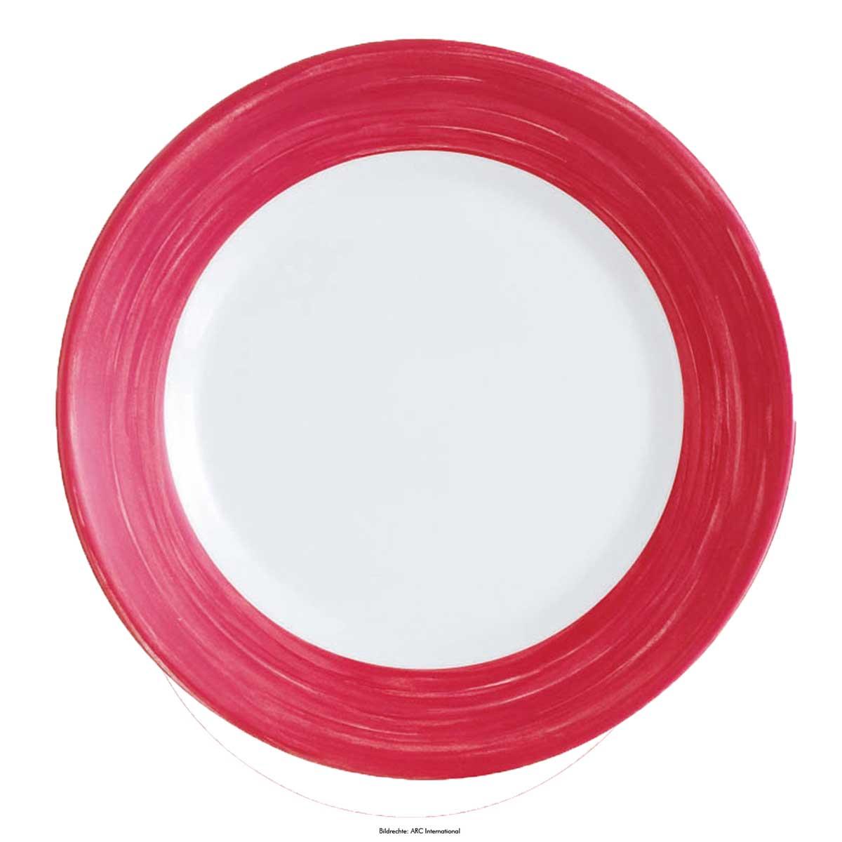 """Teller flach Ø 23,5cm, Hartglas-/ Opalgeschirr """"Brush"""""""