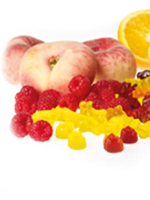 Mega-Einkaufsparadies Fruchtsaft Fruchtgummis