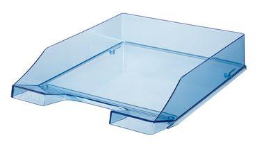 Briefablage transparent blau