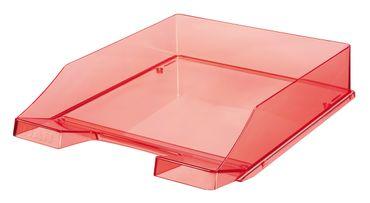 Briefablage transparent rot