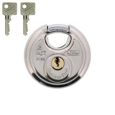 BURG-WÄCHTER Vorhängeschloss, 8 mm Bügelstärke, Kneifschutz, 2 Schlüssel