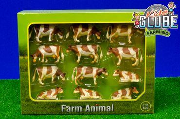 Bauernhof-Tier Kuh 132 bunt