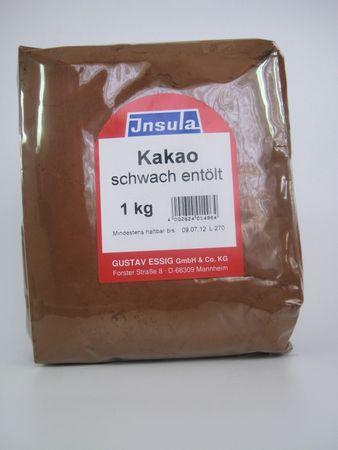 Kakaopulver schwach entoelt dunkel