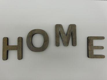 Holzbuchstabe P grau 1 Stueck