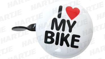 Fahrrad-Glocke wei I love my bike