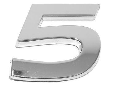 """3D-CAR Logo Zahl """"5"""""""