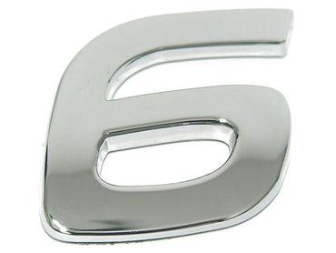 """3D-CAR Logo Zahl """"6"""""""
