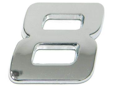 """3D-CAR Logo Zahl """"8"""""""