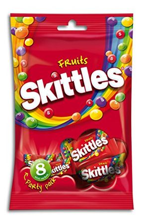 Skittles Party Pack Fruits, 6er Pack von (8 x 26 g)