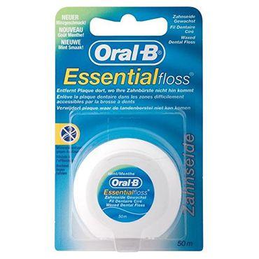 4 x Oral-B Essential-floss Zahnseide/ gewachst/ Minzgeschmack/ 50m