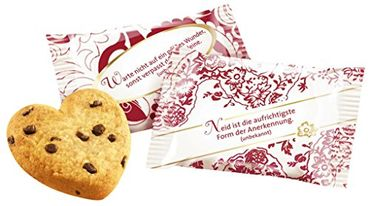 Coppenrath Tassen-Portionen Cookie-Herzen Choco,1000g