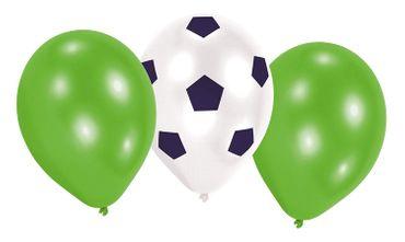 6 Latexballons Kicker Party