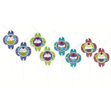 8 Trinkhalme Cupcake