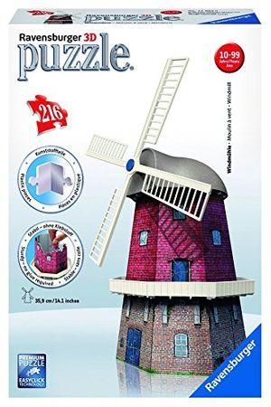 Ravensburger 12563 - Windmühle, 3D Puzzle-Bauwerke, 216 teile