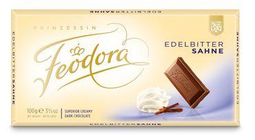 Feodora Chocolade Tafel Tradition Edel-Bitter-Sahne 100g 5er Pack