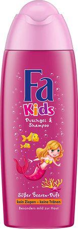 Fa Kids Duschgel und Shampoo, Meerjungfrau, 6er Pack (6 x 250 ml)