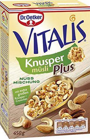 Dr. Oetker Vitalis Knusper Plus Nussmischung 3er Pack
