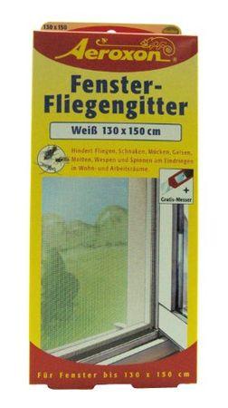 Aeroxon 43442 Fenster-Fliegengitter, weiß, 130 x 150 cm