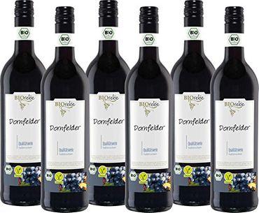 BIOrebe Dornfelder Rotwein Qualitätswein 6er Pack