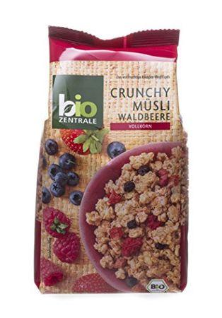 biozentrale Crunchy Müsli Waldbeere, 3er Pack (3 x 375 g)