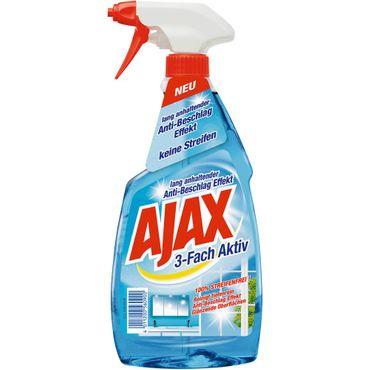Ajax Glasreiniger 3-Fach Aktiv Antistreifen Anti Schmutz 500ml