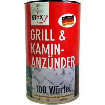 SCHMALFUSS Styx Grillanzünder Paraffin Würfel Inhalt 100 Stück