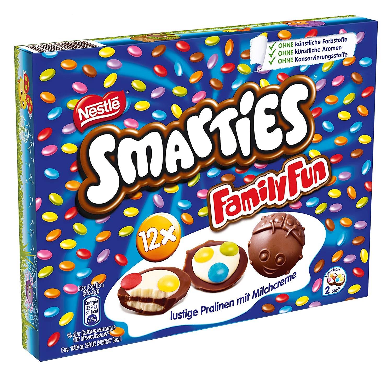 Nestle Smarties Family Fun Milchcremefüllung Und Schokolinsen 90g