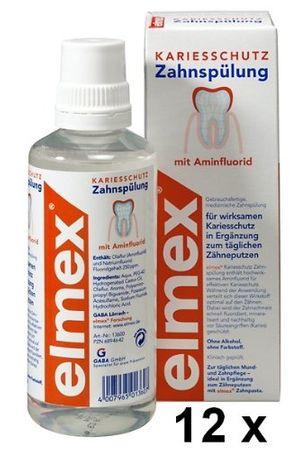 Elmex KARIESSCHUTZ Zahnspülungen 12er Pack je 400 ml