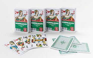 ASS Altenburger Spielkarten 70023  Doppelkopf französisches Bild 4er Pack