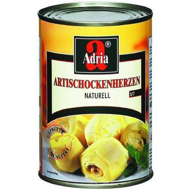 Adria Carciofi al Naturale - Artischockenherzen in Wasser - 6x 390 g