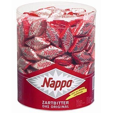 6 Dosen a 200 Nappo Mini Zartbitter Das Orginal Holländischer Nougat mit Schokoladenüberzug