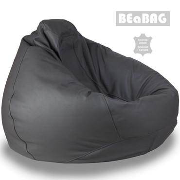 BEaBAG XXL Sitzsack Echtleder grau – Bild 2