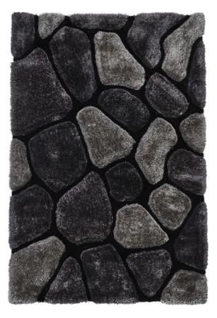 3D Teppich, edler Zottelteppich Kiesel-Design handgetuftet in 2 Größen und 12 Farbvarianten – Bild 2